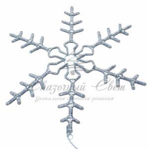 Фигура световая «Снежинка» цвет белый, размер 95 см, мигающая (2В с контроллером)  NEON-NIGHT