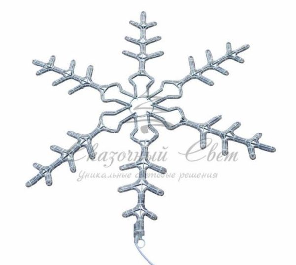 """Фигура световая """"Снежинка"""" цвет белый, размер 95 см, мигающая (2В с контроллером)  NEON-NIGHT 3"""