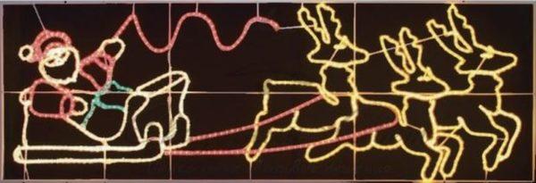 "Фигура световая ""Олени везут Санта Клауса на санях"" размер 88*266 см 3"