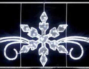 Фигура световая «Снежинка с кружевами» размер 4. 2х1. 2м