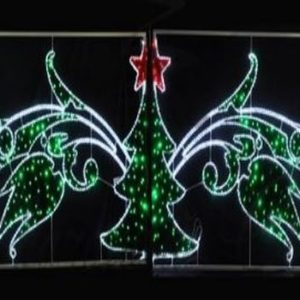 Фигура световая «Елка со звездой» размер 8х1. 5м