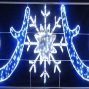 Фигура световая «Снежинка со звездами» размер 5х1. 2м