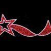 """Фигура световая """"Брызги звезд"""" 360 светодиодов 24м дюралайта, размер 400*100см 1"""
