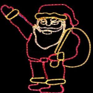 Фигура «Санта Клаус с мешком подарков», размер 100*100 см