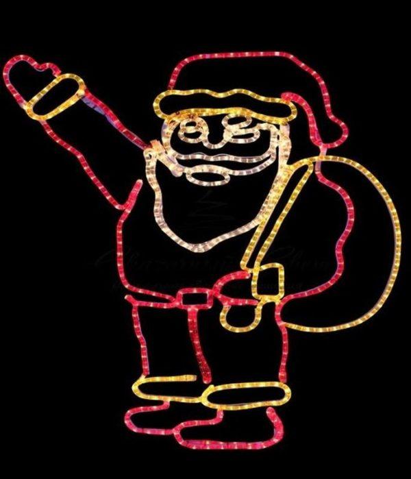 """Фигура """"Санта Клаус с мешком подарков"""", размер 100*100 см 3"""