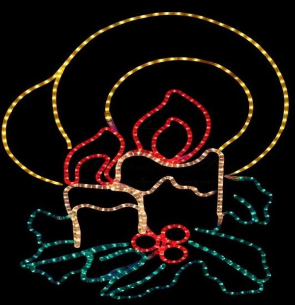 """Фигура """"Две свечи"""", размер 100*75 см 3"""