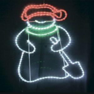 Фигура «Дед Мороз с лопатой!», размер 83*69 см