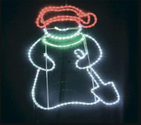 """Фигура """"Дед Мороз с лопатой!"""", размер 83*69 см 2"""