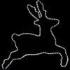 """Фигура """"Леденец"""" бархатная, с постоянным свечением, размеры 75 см (65 ТЕПЛО-БЕЛЫХ светодиодов) 1"""
