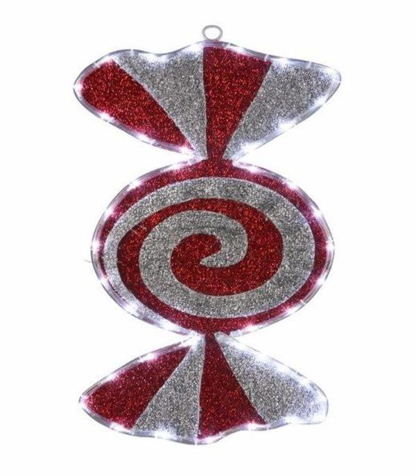 """Фигура """"Карамель"""" бархатная, размеры 60*30 см (42 БЕЛЫХ светодиодов) 2"""