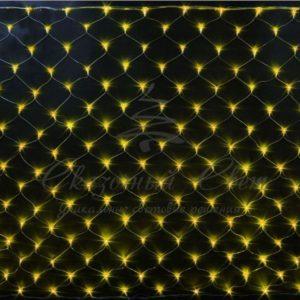 Светодиодная сетка Rich LED 2*1.5м, прозрачный провод, желтая