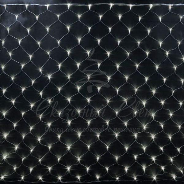 Светодиодная сетка Rich LED 2*1.5м, прозрачный провод, тепло-белая