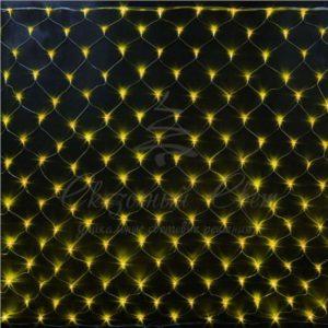 Светодиодная сетка Rich LED 2*3 м, прозрачный провод, желтая