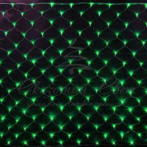Светодиодная сетка Rich LED 2*3 м, прозрачный провод, зеленая