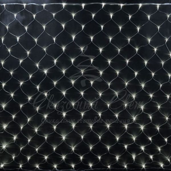 Светодиодная сетка Rich LED 2*3 м, прозрачный провод, теплый белый