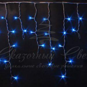 Светодиодная бахрома Rich LED 3х0.5 м прозрачный провод, Синяя