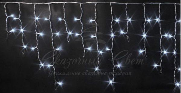 Светодиодная бахрома Rich LED 3х0.5 м прозрачный провод, Белая
