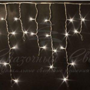 Светодиодная бахрома Rich LED 3х0.5 м прозрачный провод, Тепло-белая