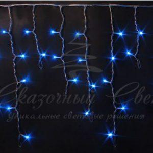 Светодиодная бахрома Rich LED 3х0.5 м, черный провод, Синяя