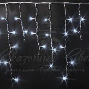 Светодиодная бахрома Rich LED 3х0.5 м, черный провод, Белая
