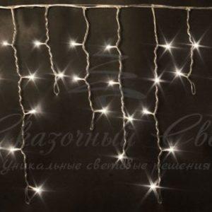 Светодиодная бахрома Rich LED 3х0.5 м, черный провод, Тепло-белая