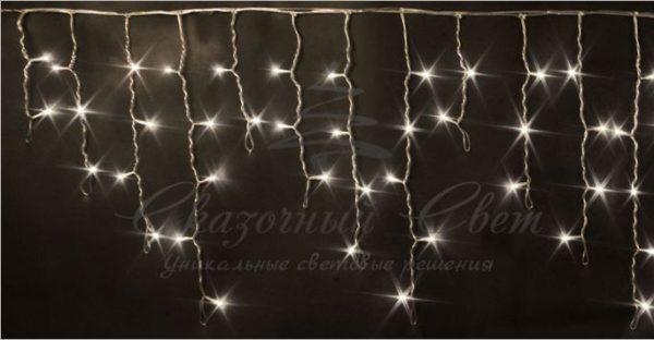 Светодиодная бахрома Rich LED 3х0.5 м мерцающая, прозрачный провод, Тепло-белая