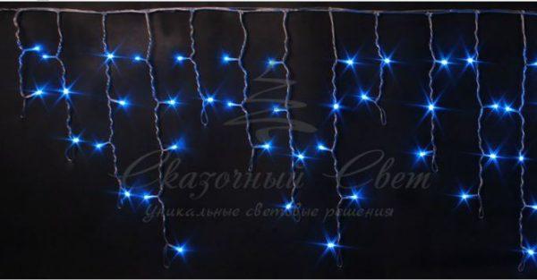Светодиодная бахрома Rich LED 3х0.5 м мерцающая, прозрачный провод, Синяя