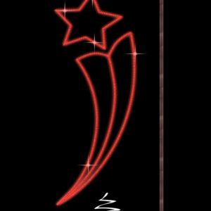 Светодиодная консоль Факел со звездой, красная, RL-KN-053, размер 1.5*0.6, 180 диодов