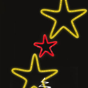 Светодиодная консоль Звезды 2-3, красно-желтые, RL-KN-083RY, размер 0.96*1.56