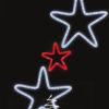 """Фигура световая """"Звезда с лентой"""" размер 3. 5х1. 2м 1"""