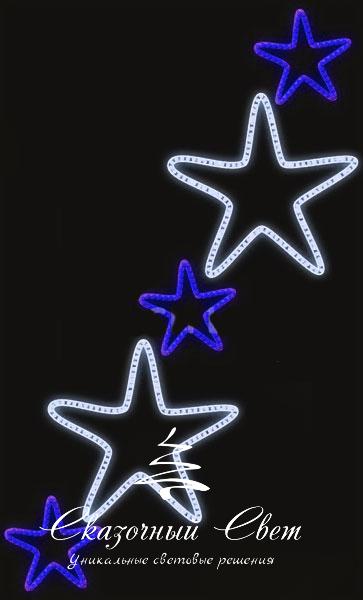 Светодиодная консоль Звезды 2-3, сине-белая, RL-KN-083BW, размер 0.96*1.56
