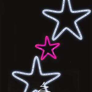 Светодиодная консоль Звезды 2-3, розово-белая, RL-KN-083PW, размер 0.96*1.56