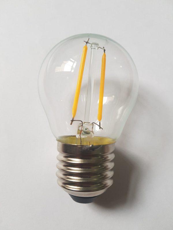Филаментная лампа для Белт-лайта, 2 Вт, d=45 мм, прозрачная, тепло-белая