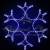 Светодиодная снежинка 90 см, синяя 1
