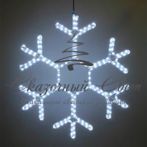 Светодиодная снежинка 50 см, белая