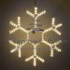 Светодиодная снежинка 110 см, тепло-белая 2