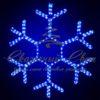 Светодиодная снежинка 110 см, синяя 2