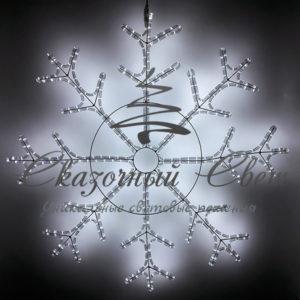 Светодиодная снежинка 110 см, белая