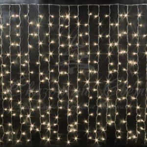 Световой дождь Rich LED облегченный, черный провод, 2х1.5 м, теплый белый