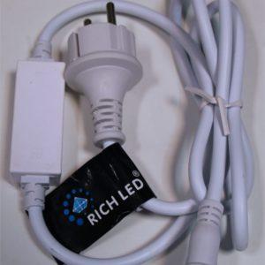 Блок питания для изделий Rich LED с постоянным свечением. 4А. Для соединения до 10 шт., белый
