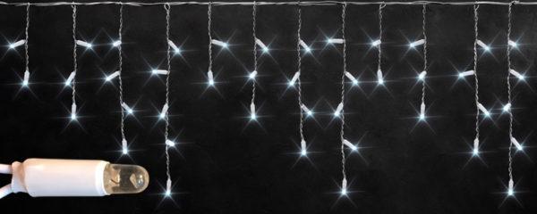 Светодиодная бахрома Rich LED 3х0.5 м белый резиновый провод, IP65, герметичный колпачок, Белая