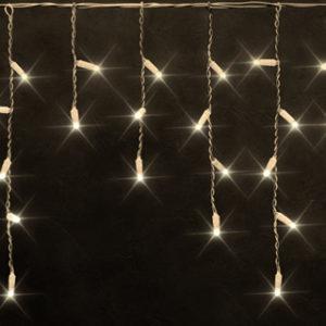 Светодиодная бахрома Rich LED 3х0.5 м белый резиновый провод, IP65, герметичный колпачок, Тепло-белая