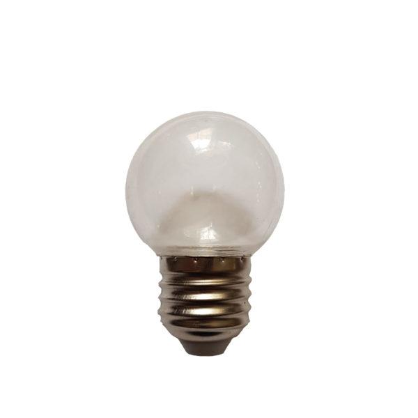 Лампа светодиодная для белт-лайт е27 2Вт тепло-белая прозрачная 1