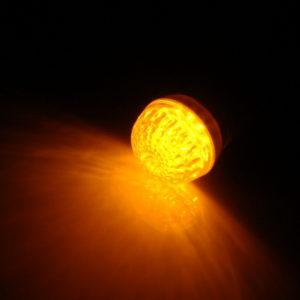 LED лампа с цоколем E27, 50 мм, (9 светодиодов), желтый