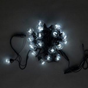 LED-2BLR-40CM-10M-240V-W, Белт-лайт с лампами, белый/черный пр.
