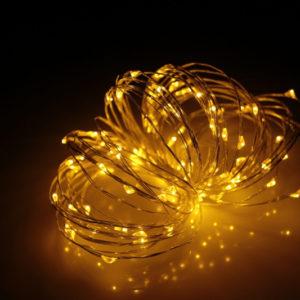 LED Роса 20м, жёлтая