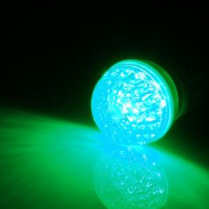 LED лампа с цоколем E27, 50 мм, (9 светодиодов), зеленый