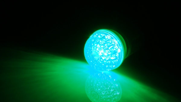 LED лампа с цоколем E27, 50 мм, (9 светодиодов), зеленый 1