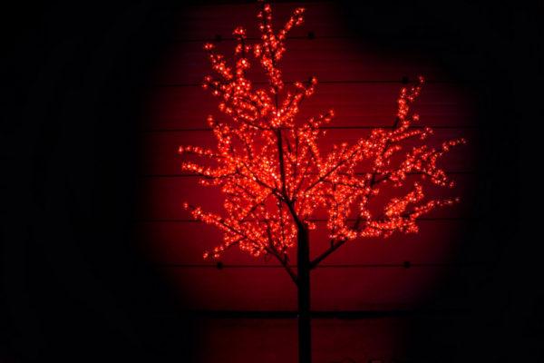 Сакура светодиодная 1728LED, H2,5м D2,0м, красное