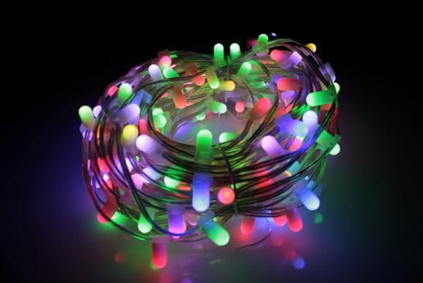 LED клип-лайт, длина 100М без трансформатора, RGB 2